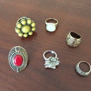 Group of costume rings